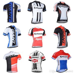 New Giant Men \ 's Ciclismo Manga corta Jerseys Montar en bicicleta Camisas Verano Transpirable Bicicleta Ropa de ciclismo Ropa Ciclismo S21031001