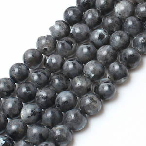 8mm Natural Stone Beads Labradorite Larvikite Round Loose Beads For Jewelry Making 15.5inch strand Pick Size 4 6 8 10 12 14mm