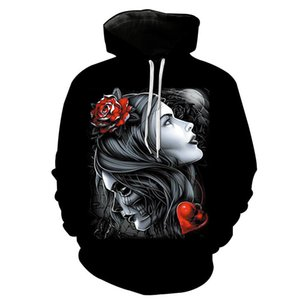 3d Print Hoodies Witch Beauty Black Fashion Sweatshirt Men Streetwear Casual Harajuku Outwear Hip Hop Hooded Sportswear Couple Tracksuits