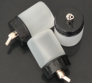 Weiß Platic Airbrush-Flaschen für Großhandel - 22CC NEUE 10PCS Airbrush Luft-Bürsten-Weiß Flasche Glas / Standard Saug Deckel