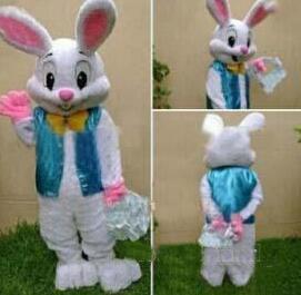 2018 nouveaux vêtements de dessin animé de mascotte de lapin de Pâques professionnels vêtements lapin adulte dessin animé costume de mascotte fantaisie robe livraison gratuite