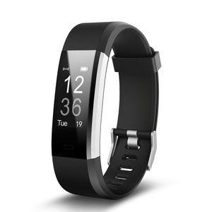 ID115HR PLUS Smart Wristband Sports Ritmo Cardíaco Banda Rastreador de Fitness Pulsera Inteligente Reloj Inteligente para IOS Android