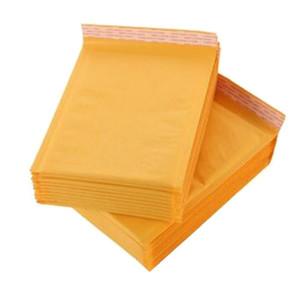 Enveloppes à bulles en papier kraft de 110 * 130 mm Sacs Enveloppes à bulles de courrier Enveloppes d'expédition rembourrées Fournitures de bureau livraison gratuite
