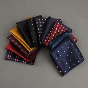 10 pezzi moda fazzoletto stampato punto plaid tasca quadrata per uomo abiti da festa di nozze hankies mouchoir homme accessorio