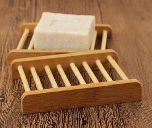 Jabonera de bambú Jabonera de madera de bambú natural Jabonera de almacenamiento Caja de estante de la caja Contenedor para baño Ducha Placa de baño