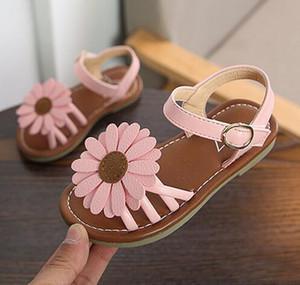 2018 лето дети Desginer обувь сандалии девушки хризантемы дизайн сандалии пляжная обувь солнце цветок стиль студенты обувь Бесплатная доставка