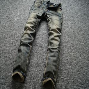 Classique Rétro Design Hommes Jeans Haute Qualité Slim Fit Denim Boutons Pantalons Célèbre Balplein Marque Jeans Hommes Vintage En Gros Jeans Homme