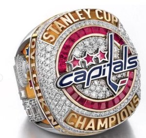 Neue Ankunft Meister Ring 2018 Washington Capitals Stanley Cup Championship Ring Größe 8-14 Geschenk hochwertige Großhandel Drop Shipping