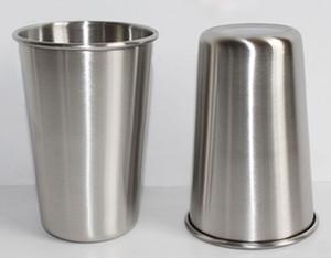 500 ml en acier inoxydable tasses avec tasse à jus en verre de bière bière 16oz gobelet pinte en métal cuisine pot à boire bar offre