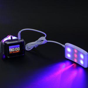 ATANG 블루 / 레드 lllt 낮은 수준의 레이저 치료 장치 혈압 감시 고혈압 제어 시계
