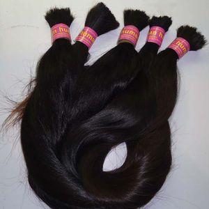 100 جرام البرازيلي تجديل الشعر السائبة لا لحمة البرازيلي مستقيم الشعر السائبة ل تجديل 1 حزمة 10 إلى 26 بوصة اللون الطبيعي الشعر