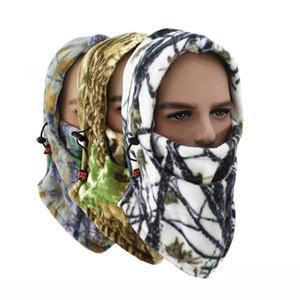 New winter warm bike riding camo face masks Tactical hood scarf outdoor sports mask bicycle cycling balaclava fleece hat snowboarding beanie