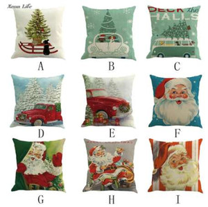 ISHOWTIENDA New 1PC 45cm*45cm Square Christmas Printing Dyeing Bed Home Pillow Cover Christmas Pillow Case