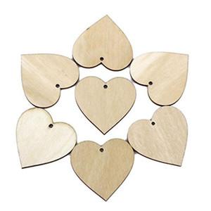 20 мм деревянные формы сердца украшения небольшой мини-форма для ремесла украшения свадьба украшения