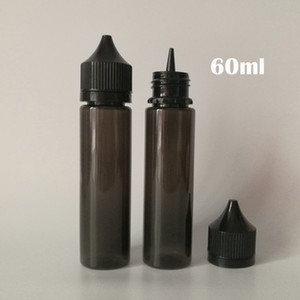60ml PET Vider Unicorn Dropper de bouteilles Chubby Gorilla les bouteilles avec des capsules pour jus liquide sécurité enfants Vape E E