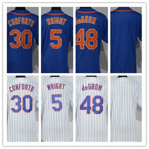 2018 Womens #34 Noah #5 David Wright #48 Jacob deGrom 30 Michael Conforto Lady Baseball Jerseys Blank White Blue