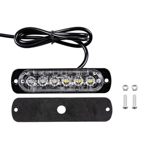 Car Styling 6 LED Car Mini Emergency Light Bar 18 Flashing Mode 12V 24V led Strobe light for Universal Vehivle or Truck
