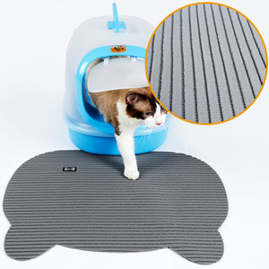 Non Slip Cat Litter Mat Cute Puppy Kitty Dish Feeding Bowl Placemat Pet Dog Tray Mat Pet Food Bowl Pad Cat Litter Trapping Mat