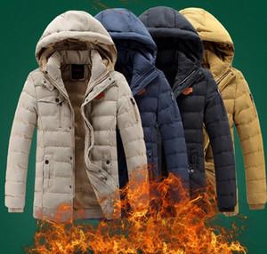 New Mens Fashion Thick Warm Cap rimovibile impermeabile jaqueta masculina OverCoat Parkas Piumino invernale imbottito in cotone
