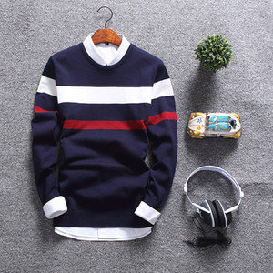Collar Moda de Nova Autumn Sweater Homens Soft Round pulôver dos homens Slim Fit Mens Camisolas Casual Natal masculino Sweater MY1803