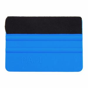 Durable Handheld Edge gefühlt Rodo Vinyl Application Tool weiches Auto Wrap Scraper Schaben Square Blue Decal