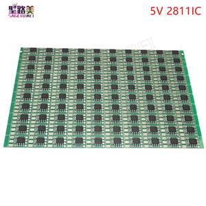 100 개 DC5V DC 12 볼트 WS2811 회로 보드 PCB 광장 만드는 WS2811 LED 픽셀 모듈 IC 칩 조명 조명 테이프