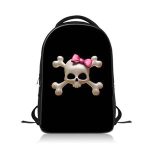رجل إمرأة محمول مفكرة حقيبة الظهر 3d الطباعة الجمجمة حقيبة مدرسية للطلاب كلية المراهقين حقائب السفر الكتف الكبار bagpack