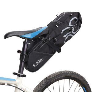 2018B-SOUL Bicycle Tail Bag Waterproof Large Capacity Rear Seat Bag Mountain Bike Tail Package Road Riding Equipment
