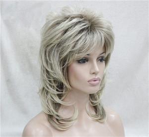 Parrucca riccia bionda di trasporto libero parrucca corta parrucca sintetica interna della fibbia per le donne capelli corti resistenti al calore sembranti naturali biondi