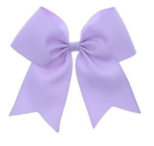 24PCS / 5 inch Big Ribbon Cheer Bows con clip School Hair Bows Clip da donna per ragazza Barrettes Accessori per capelli