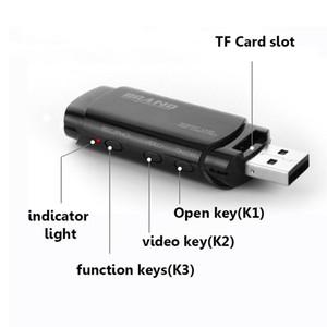 ذاكرة 32GB المدمج في الكاميرا البسيطة الصغيرة U-DISK المحمولة HD مايكرو الثقب كاميرا تسجيل DVR كاميرا صغيرة للمنزل، سيارة ومكتب PQ238 الأمن