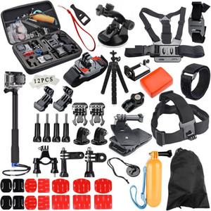 GloryStar para GoPro conjunto de acessórios ir pro herói 6 5 4 3 kit vara maneira selfie para Eken h8r para Xiaomi yi EVA caso VS77