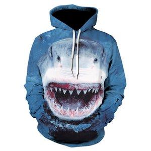 Punk Great Hoodies impresión de tiburón 3d sudadera primavera otoño Harajuku jerseys hombres mujeres Animal Hoodies sudadera más tamaño