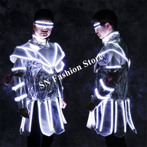LZ12 Ballroom dance led costumes lumineux lumière robot costume de danse bar dj costume chanteur scène porte vêtements led spectacle de partie led performance