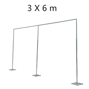 3M * 3M Wedding Pañalería Pipe Stand / Wedding Decor Piping frame para drape / Stainess Steel Wedding Backdrop Stand