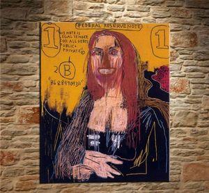 Jean Michel Basquiat dipinto a mano stampa HD Home Decor astratto Graffiti Wall Art pittura a olio di alta qualità su tela.Multi dimensioni g55
