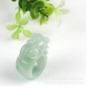 천연 비취화물 반지 옥으로 만든 손가락 몇 옥 반지 링 제조 업체 도매