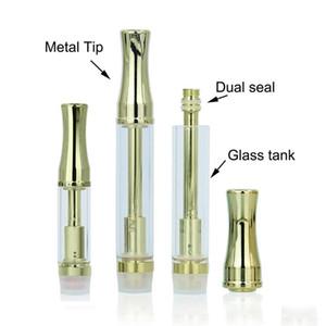Goldene 92A3 Vape Patronen Leere Vape Pen Patronen Doppelspule Dickes Öl Zerstäuber Metall Runde und flache Spitzen 510 Zerstäuber mit Kunststoffrohr