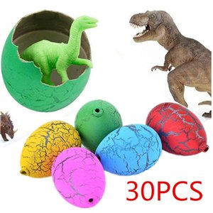 30x Child Magic Growing Dino Eggs Hatching Dinosaur Add Water Inflatable Kids Toy Color Random Educational Toys