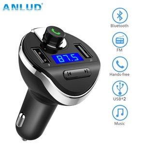 Großhandel Bluetooth Car Kit Hände frei FM-Transmitter Wireless Car Mp3 Musik-Player Dual-USB-Ladegerät Bluetooth Car Kit