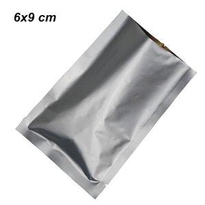 6x9cm ouvert top scellé sous vide sacs en aluminium pur de la nourriture de papier d'aluminium de qualité alimentaire mylar feuille sous vide thermoscellant d'emballage
