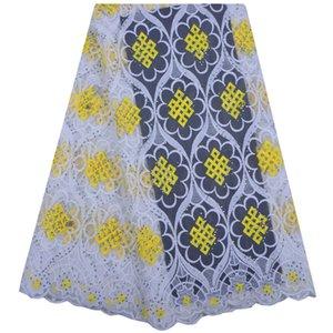Best Selling Swiss voile laces African Lace Fabric White Nigerian French Fabric 2018 de alta calidad de encaje de tul africano Fabric1212