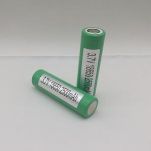 100% de alta calidad 25R 18650 batería 2500mAh 20A de alta capacidad 18650 batería recargable para E Cig Mods para Samsung 25R