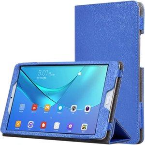 30pcs Silk 패턴 PU 가죽 케이스 플랩 북 커버 Huawei Mediapad M5 8.4 인치 SHT-AL09 SHT-W09 핸드 스트랩 스타일러스 펜