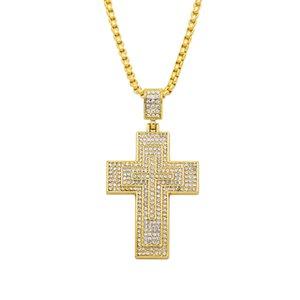 Customized Jesus Christian Cross Necklace Women Men Hip Hop Pendant Necklace Jewelry 2018 Fashion Long Necklace Accessories