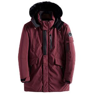 드롭 배송 모피 칼라 남성 겨울 Wram Parka Army 그린 자켓 남성 캐주얼 루즈 남성 자켓 남성 롱 코트 AXP154