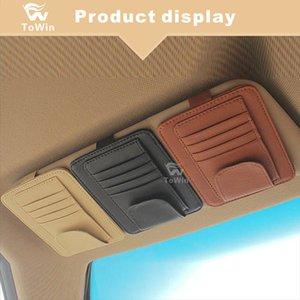 Universal Multifuncional Carro Sunvisor Óculos Clipe Acessórios de Estacionamento Interior Do Cartão de Estacionamento / Cartão de Alta Velocidade / Cartão de Combustível / Bill Armazenamento