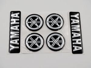 7cm negro de plata 3D del emblema de la etiqueta más 3cm de sintonización Tenedor por Modelos motocicletas Yamaha Todos personalizada