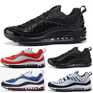 2018 Nike air max airmax 98 White Hologram Iridescent Junior Gold Superstars Sneakers Originals Super Star Mujer Hombre Sport Casual Shoes 36-45