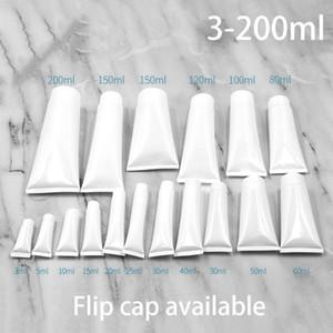 3 мл-200 мл Белая пластиковая мягкая трубка косметическое очищающее средство для лица крем для рук упаковка шампуня сожмите шланг бутылки бесплатная доставка